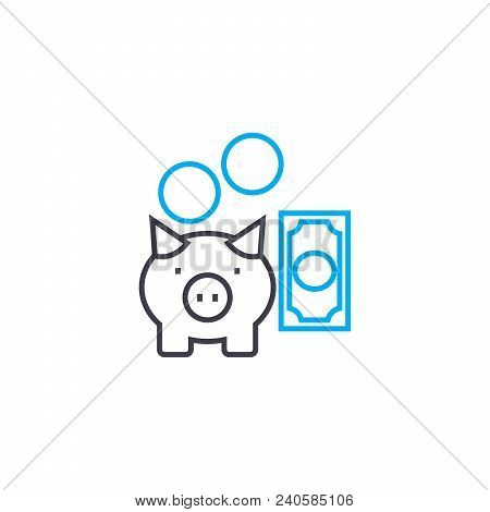 Reserve Fund Vector Thin Line Stroke Icon. Reserve Fund Outline Illustration, Linear Sign, Symbol Is