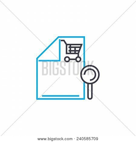 Sales Report Vector Thin Line Stroke Icon. Sales Report Outline Illustration, Linear Sign, Symbol Is