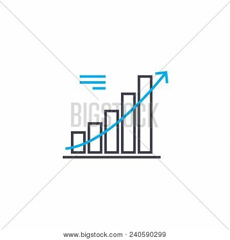 Trend Analysis Vector Thin Line Stroke Icon. Trend Analysis Outline Illustration, Linear Sign, Symbo