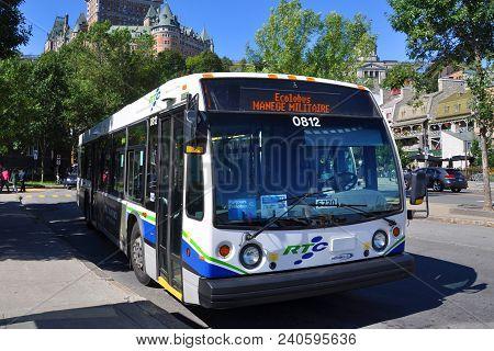 Quebec City, Canada - Sep 11, 2011: Quebec City Rtc Reseau De Transport De La Capitale Express Bus I