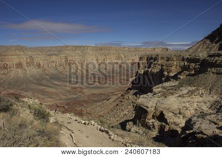 The Arm Of The Grand Canyon In Arizona On The Havasupai Reservation. To Get To The Village Of Supai,