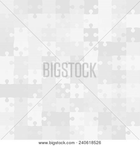 100 Grey Background Puzzle. Infographic Presentation. Jigsaw Banner. Vector Illustration Template Sh