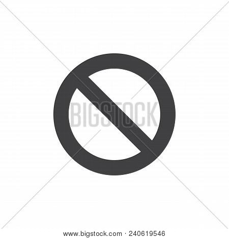 Access Denied Vector Icon. Filled Flat Sign For Mobile Concept And Web Design. Disable Simple Solid