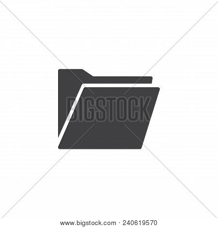 Folder Vector Icon. Filled Flat Sign For Mobile Concept And Web Design. File Folder Simple Solid Ico