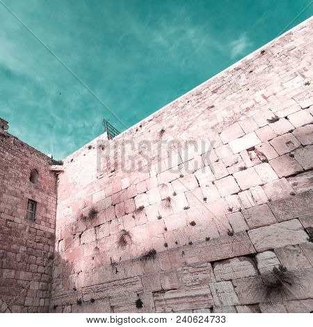 The Western Wall Or Wailing Wall In The Old City Of Jerusalem, Israel.