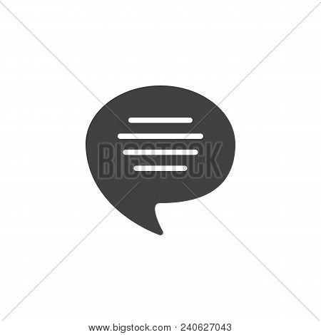 Voice Speech Bubble Vector Icon. Filled Flat Sign For Mobile Concept And Web Design. Chat, Dialogue