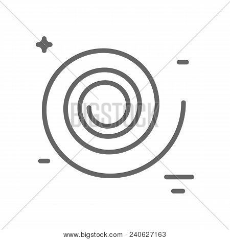 Black Hole Logo Made In Trendy Line Stile Vector. Space Series. Space Exploration And Adventure Symb