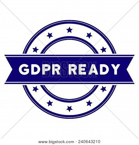 GDPR Ready seal template. Vector element with clear design for stamps and watermarks. poster