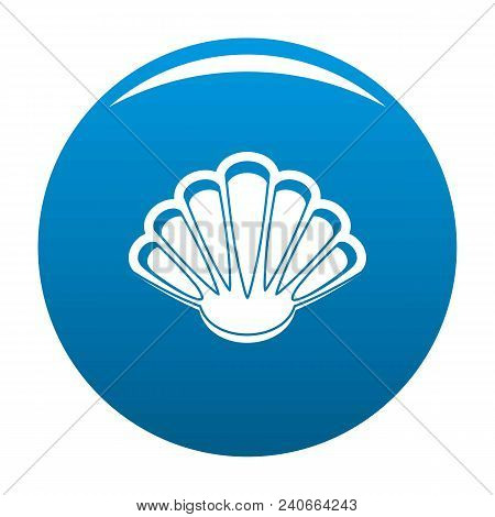 Nice Shell Icon. Simple Illustration Of Nice Shell Vector Icon For Any Design Blue