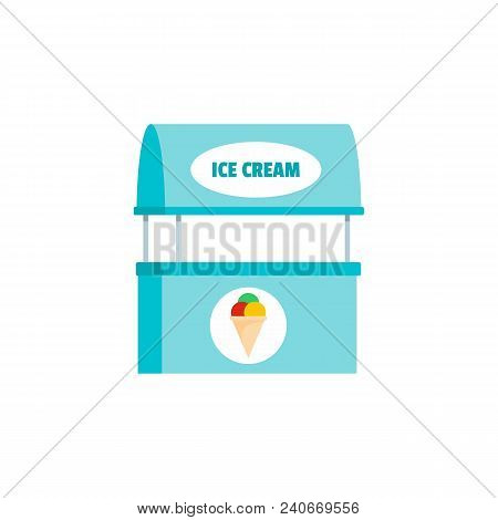 Ice Creme Selling Icon. Flat Illustration Of Ice Creme Selling Vector Icon For Web.