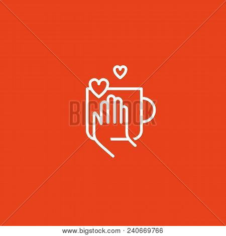 Illustration Design Of Logotype Business Coffee. Vector Cup With Drink Icon.