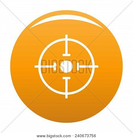 Important Target Icon. Simple Illustration Of Important Target Vector Icon For Any Design Orange