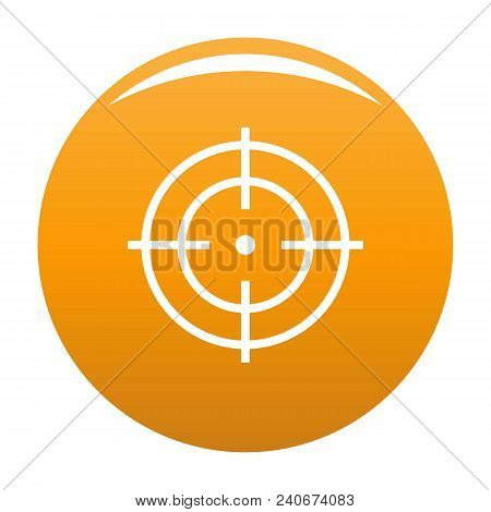 Target Of Sportsman Icon. Simple Illustration Of Target Of Sportsman Vector Icon For Any Design Oran