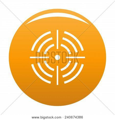 Round Target Icon. Simple Illustration Of Round Target Vector Icon For Any Design Orange