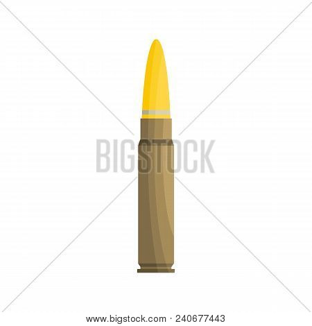 Weapon Cartridge Icon. Flat Illustration Of Weapon Cartridge Vector Icon For Web