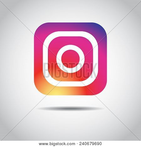 Social Media Instagram Icon Colour Gradient. Icon Color. Eps 10
