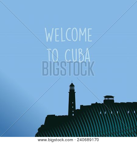 Advertising Image Of The Old City Of Havana In Cuba