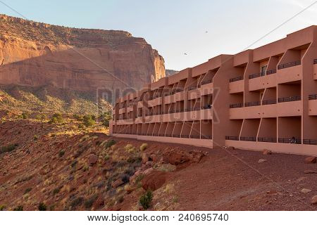 Monument Valley, Arizona, Usa- 02 September, 2017: The View Hotel, Indian Rte 42, Oljato Monument Va