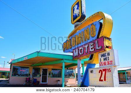 Tucumcari, New Mexico - July 21: Palomino Motel On Historic Route 66 On July 21, 2017 In Tucumcari,