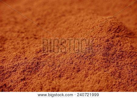 Close Up For Cacao Powder , Cocoa Powder