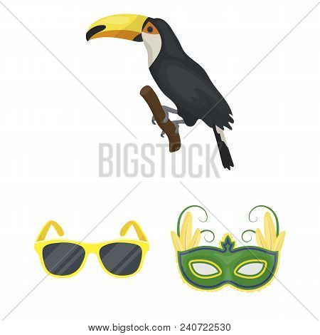 Country Brazil Cartoon Icons In Set Collection For Design. Travel And Attractions Brazil Vector Symb