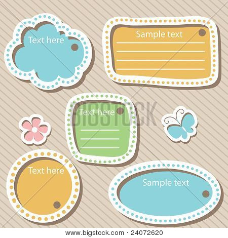 Vector Set Of Scrapbook Elements