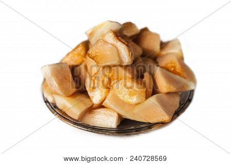 Raw Organic Ripe Muskmelon Or Cucumis Melo Or Honeydew Or Cantaloupe Or Tati Isolated On White.
