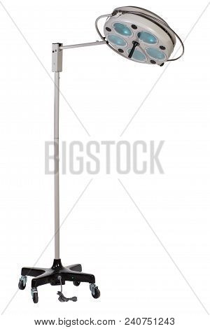Modern Medical Equipment - Adjustable Surgical Lamp In Operating Room Isolated On White