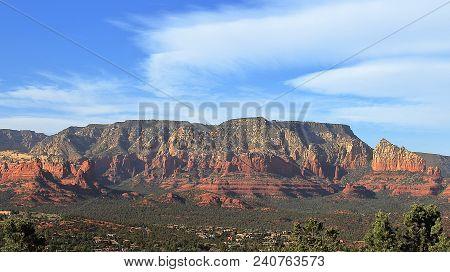 Mesa From Sedona Airport Overlook, Arizona, Usa