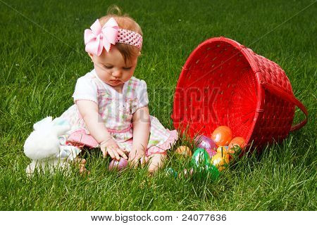 Easter Baby Spill Play