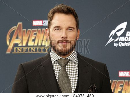 Chris Pratt at the premiere of Disney and Marvel's 'Avengers: Infinity War' held at the El Capitan Theatre in Hollywood, USA on April 23, 2018.
