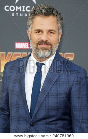 Mark Ruffalo at the premiere of Disney and Marvel's 'Avengers: Infinity War' held at the El Capitan Theatre in Hollywood, USA on April 23, 2018.