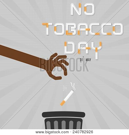 Human Hands And Quit Tobacco Vector Logo Design Template.may 31st World No Tobacco Day.no Smoking Da