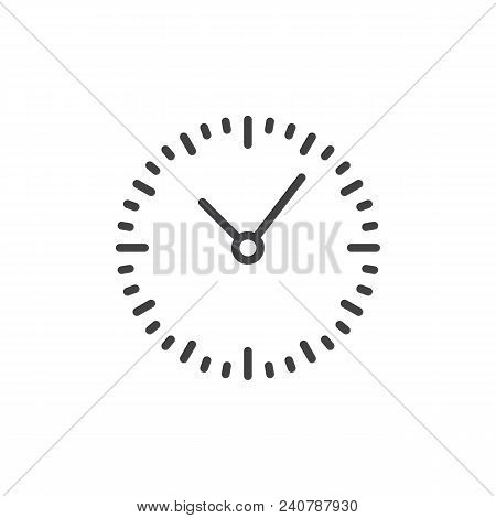 Clock Outline Icon. Linear Style Sign For Mobile Concept And Web Design. Mechanical Watch Simple Lin