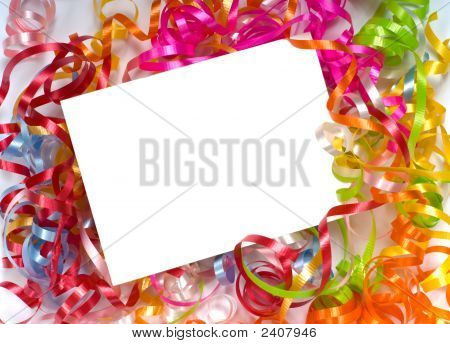 Curly Ribbon Notecard