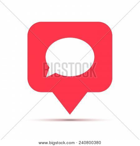 New Comment, Social Network Icon In Speech Bubble Shape Isolated On White