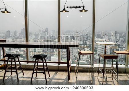 Table Chair In The Office Room The Clean Room, Build In Furniture, White Modern Meeting Room, Backgr