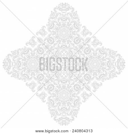 Oriental Pattern With Arabesques And Floral Elements. Traditional Classic Ornament. Vintage Pattern