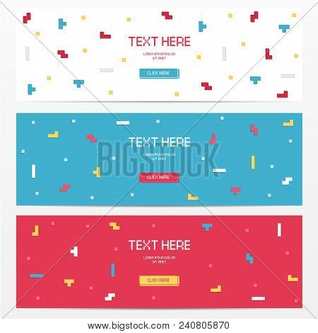 Modern Template For Banner, Flyer, Card, Invitations, Brochure And Poster Techno Pixel Element