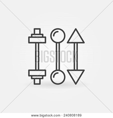 Piercing Barbells Icon. Vector Piercing Jewelry Concept Sign Or Design Element In Thin Line Style