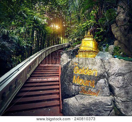 Golden Stupa Temple Wat Saket