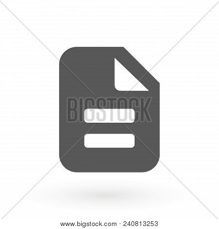 Document Icon Illustration Isolated Vector Sign Symbol. Checklist Icon, Stock Vector Illustration Fl