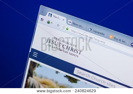 Ryazan, Russia - May 13, 2018: Lds Website On The Display Of Pc, Url - Lds.org