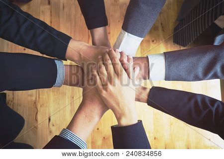 Group Business People Of Diverse Hands Together Joining Concept And Group Support Teamwork Cooperati