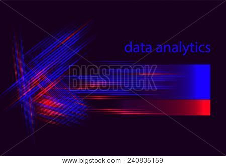 Big Data Vector Illustration. Machine Learning Algorithm For Information Filter And Anaytic