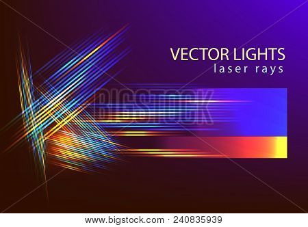 Abstarct Futuristic Background With Light Speed Lines For Technology Backdrop Associated With Space