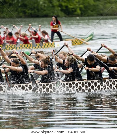 Canadian National Womens Premier Dragon Boat racing