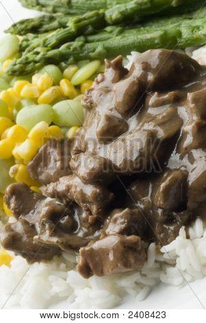Beef Burgundy Dinner Plate
