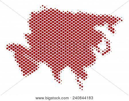 Abstract Asia Map. Vector Halftone Geographic Scheme. Cartographic Dot Concept. Schematic Asia Map I