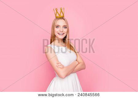 Cosmetics Beaming Tender Gentle Model Success Toothy Trendy White People Dress Cocktail Leadership R
